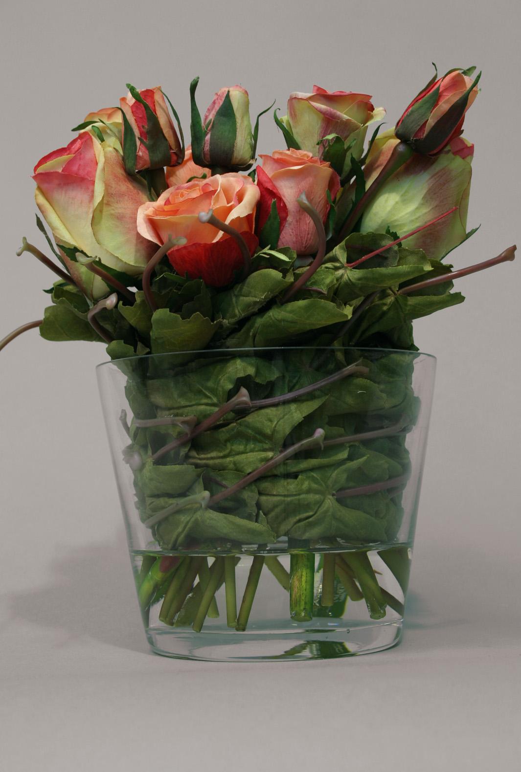 Roser i glass