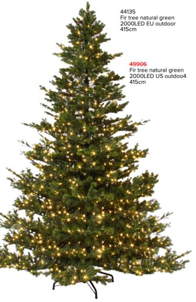 Juletre gran 180 cm med 400 LED lys